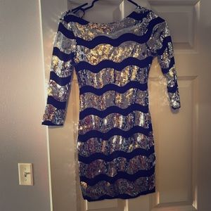 Frederick's Of Hollywood Stretch Sequin Dress